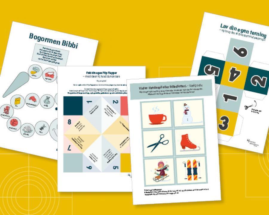 Billede af bingoplader til vinterferiehygge