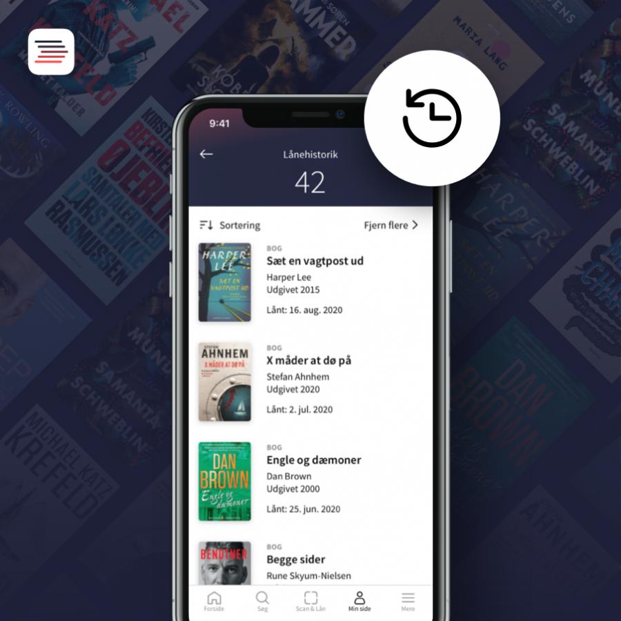 Biblioteks-appens lånehistorik