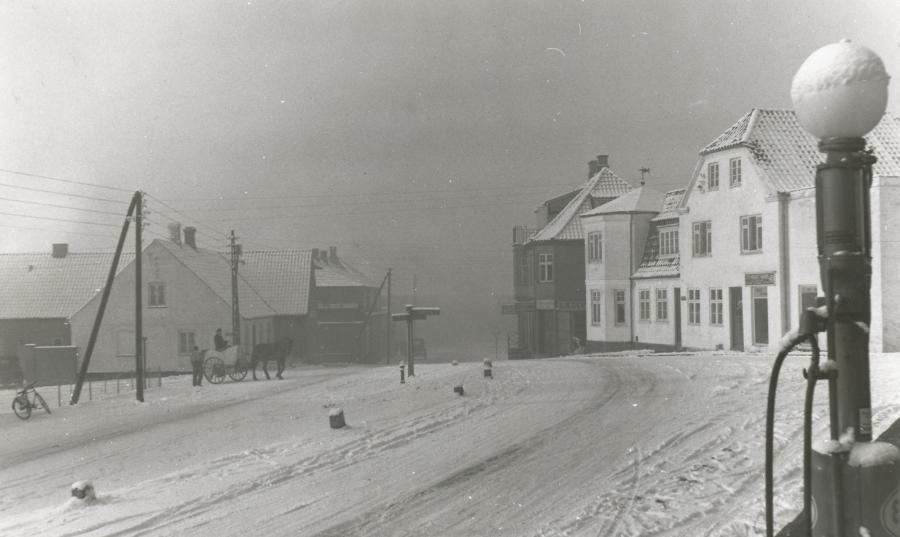 Vinter og sne i Asnæs i 1940'erne