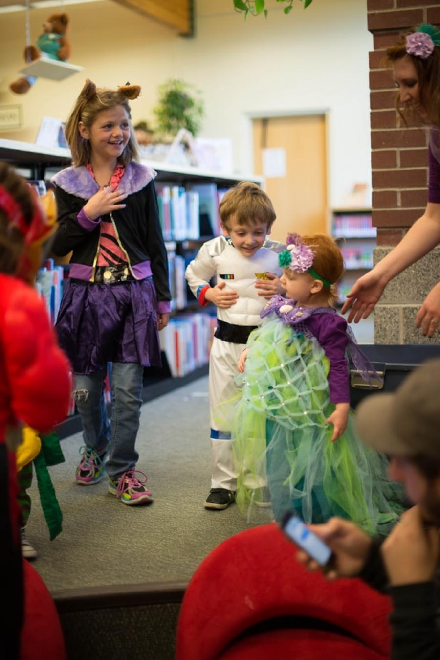 Børn med udklædning