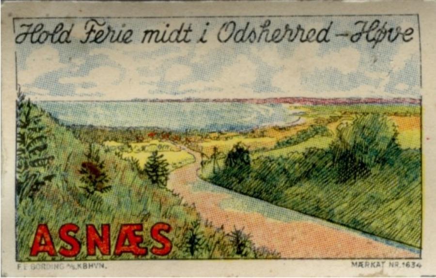 """Gammelt postkort - """"Hold ferie midt i Odsherred"""""""