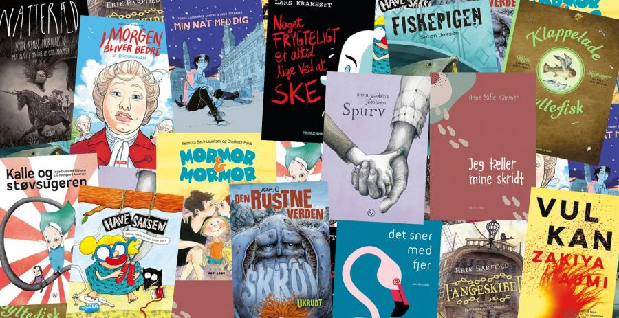Billede af de nominerede bøger