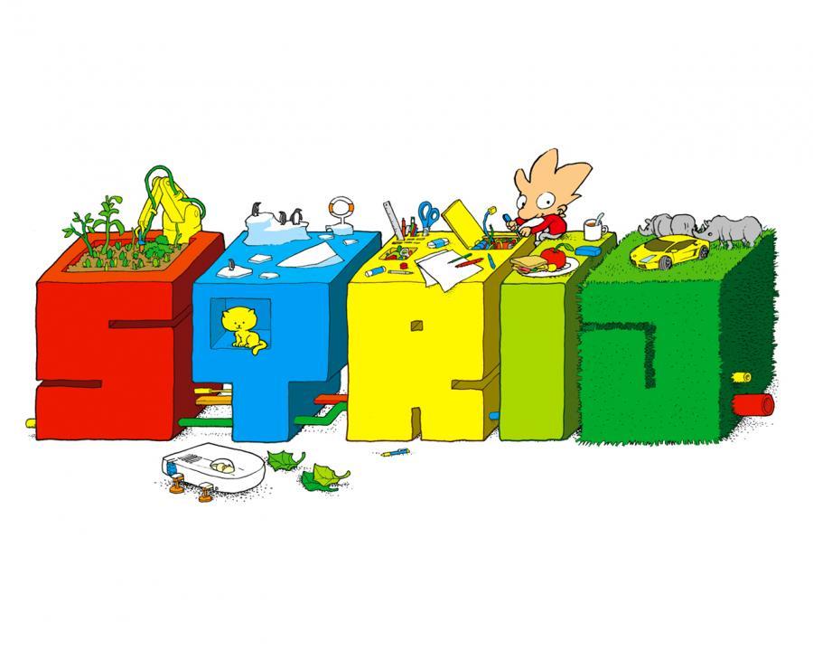 Jakob Martin Strid tegner og skriver fantastiske børnebøger