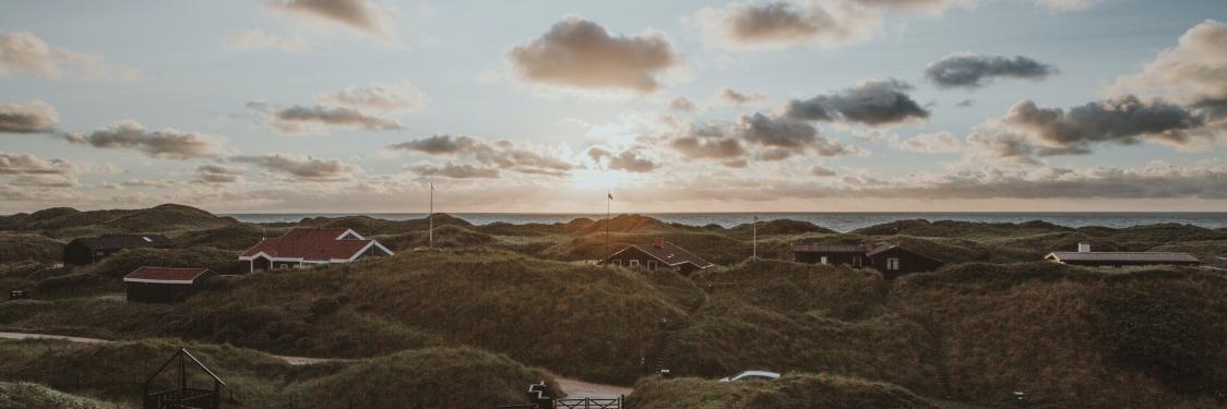 Billede af dansk strandlandskab